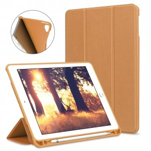Capa Case Smart Cover iPad 12.9 Apple Marrom 2018 - Suporte Pencil Caneta