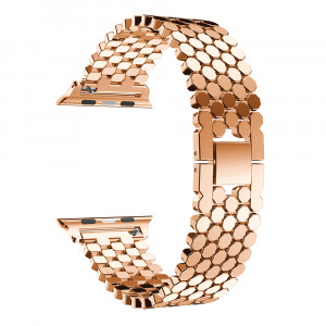 Pulseira Para Apple Watch Metal Escama de Peixe - Rose Gold 42mm